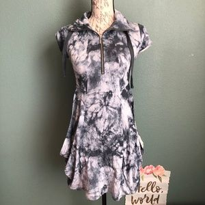Kensie Tie Dye Jersey Mini Dress Size XS